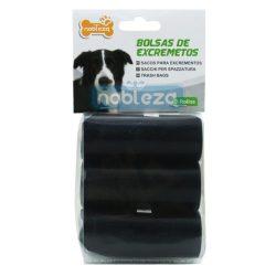Fekete kutyapiszok tartó zacskó, Sz23*H32cm, 3 tekercs