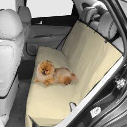 Autós hátsó ülésvédő huzat, khaki színben, H73*Sz56cm