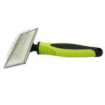 Slicker Brush sárga- fekete műanyag nyelű kefe, S méret