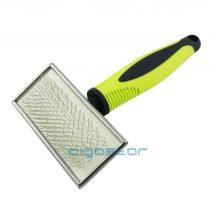 Slicker Brush Sárga fekete műanyag nyelű kefe, L méret