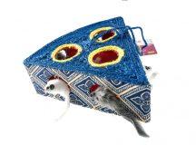 Szizálból készült kaparójáték cicáknak, kék, H21*Sz17*D8cm