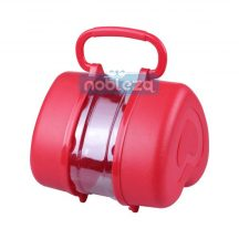 Hordozható táptartó piros színben