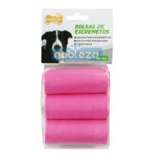 Kutyapiszok tartó zacskó, rózsaszín Sz23*H32cm
