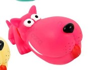 Óriás kutyafej formájú sípoló kutyajáték, pink