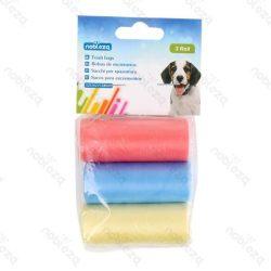 Kutyapiszok tartó zacskó, színes, 3db/csomag Sz21*H31.5cm
