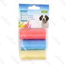 3db-osKutyapiszok tartó zacskó, színes, Sz21*H31.5cm, 24db/csomag