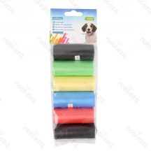 6db-os Kutyapiszok tartó zacskó, színes, Sz21*H31.5cm, 12db/csomag