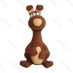Egér formájú latex kutyajáték, barna színben