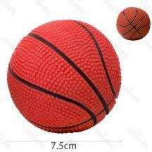 Kosárlabda formájú sípoló kutyajáték, 7.5cm