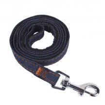 Farmer anyagból készült fekete belsejű póráz, Sz2.5cm x H120 cm