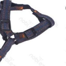 Farmer hatású textil hám, fekete belsejű Sz1.0cm x H25-40cm