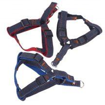 Farmer hatású textil hám, fekete belsejű Sz1.5cm x H30-50cm