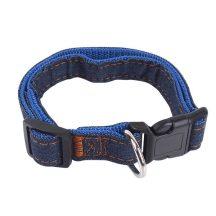 Farmer hatású nyakörv, kék belső, Sz1.0 x H20-30cm