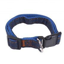Farmer hatású nyakörv, kék belső, Sz1.5 x H25-40cm
