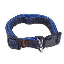 Farmer hatású nyakörv, kék belső, Sz2.0 x H30-50cm