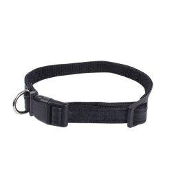 Fekete bőr hatású nyomott mintás kutyanyakörv 2.5cmx40-60cm