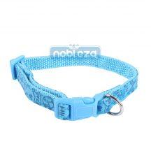 Kék bőr hatású nyomott mintás kutyanyakörv 2.5cmx40-60cm