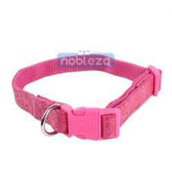 Rózsaszín bőr hatású nyomott mintás kutyanyakörv 2.5cmx40-60cm