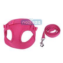 """Rózsaszín Soft hám szett """"S"""" méret 1.0x120cm 1.0cmx25-40cm"""