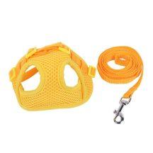 """UV sárga mellény és póráz szett """"M"""" méret 1.5cmx120cm; 1.5cmx30-50cm"""