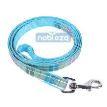 Kék kockás mintás póráz, 1.5cm x 120cm