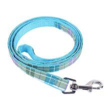 Kék kockás mintás póráz, 2.5cm x 120cm