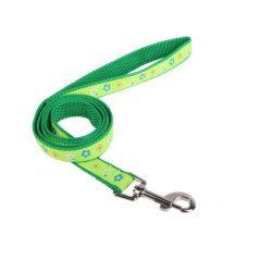 Zöld színű színes mintás textilpóráz 1.5cmx120cm