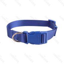 Kék egyszínű textil nyakörv, 2.5cmx40-60cm