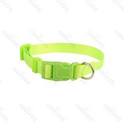 UV sárga egyszínű textil nyakörv, 2.5cmx40-60cm