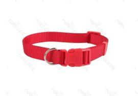 Piros egyszínű textil nyakörv, Sz2.0*H30-50cm