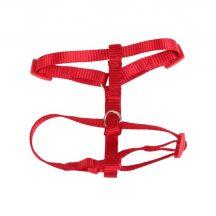 """Piros színű """"H"""" formájú textil hám """"XS"""" méret"""