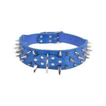 Kék műanyag szegecses nyakörv, 5.0cm x 73cm