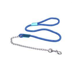 Kék terminátor póráz fém lánc, kötél vég  D1.2cm x 120cm