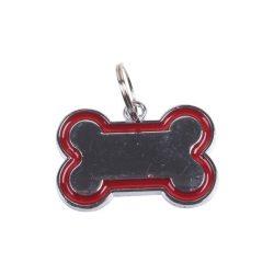 Piros kutyacsont ékszer, 3cm