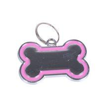 Rózsaszín Kutyacsont ékszer, 3cm