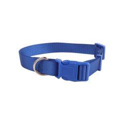 Kék egyszínű textil nyakörv, 1.5cmx25-40cm