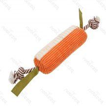 Plüssből készült kutyajáték, narancs- bézs színben