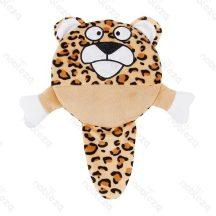 Plüssből készült kutyajáték, leopard formájú