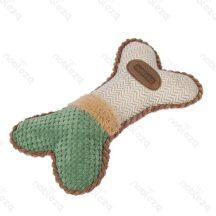 Plüssből készült kutyajáték, kutyacsont formájú