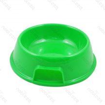 Zöld műanyag tál etetéshez, itatáshoz kutyáknak és cicáknak 13,5 x 5.5cm
