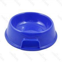Kék műanyag tál etetéshez, itatáshoz kutyáknak és cicáknak 13,5 x 5.5cm
