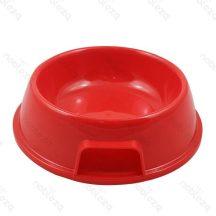 Piros műanyag tál etetéshez, itatáshoz kutyáknak és cicáknak 17 x 6.5cm