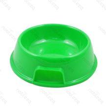 Zöld műanyag tál etetéshez, itatáshoz kutyáknak és cicáknak 17 x 6.5cmcm