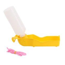Műanyag kulacs sárga színben, 250 ml, 20cm x 5.5cm