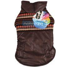 Kutya jacket barna kötött mintával díszített  XS méret 20 cm hosszú