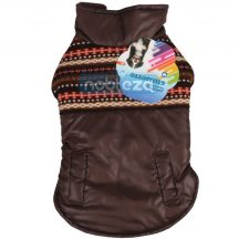 Kutya jacket barna kötött mintával díszített,  20 cm hosszú