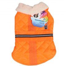Enyhén vízlepergető kabát narancssárga M méret 30cm háthossz