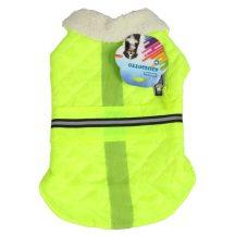 Enyhén vízlepergető kabát UV zöld L méret (35cm háthossz)