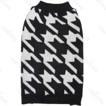 Sweater, kutyafog mintás, fekete, 35 cm háthossz