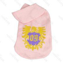 Kapucnis pulcsi, arany betéttel, pink színben 40 cm háthossz